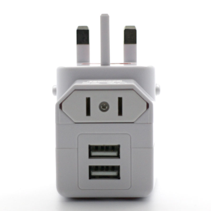 Valore Universal Travel Adapter With Two Usb Output V