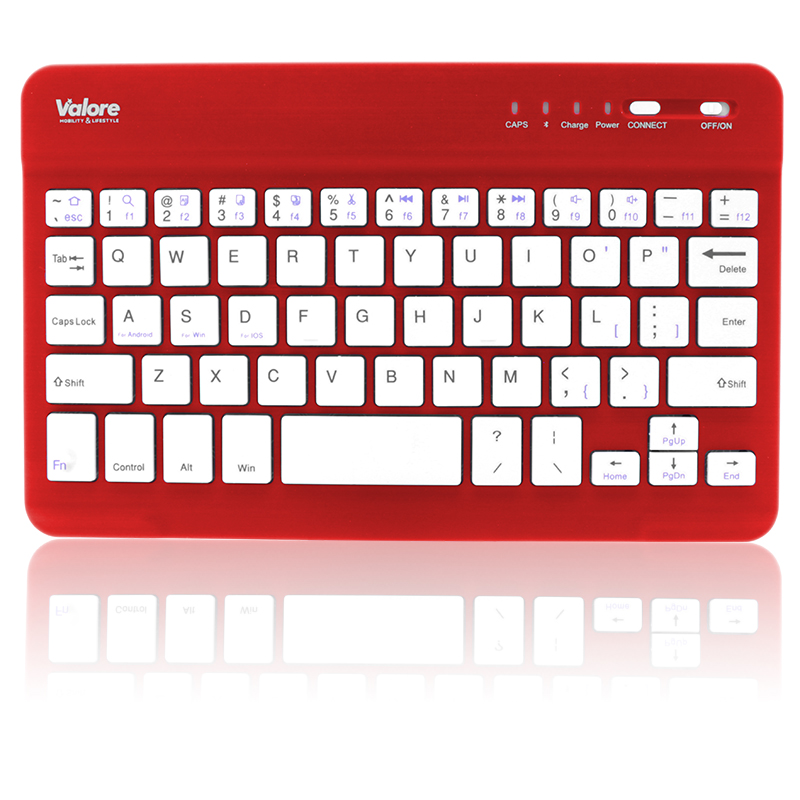 800x800 Valore Portable Bluetooth Keyboard BTK380_Red