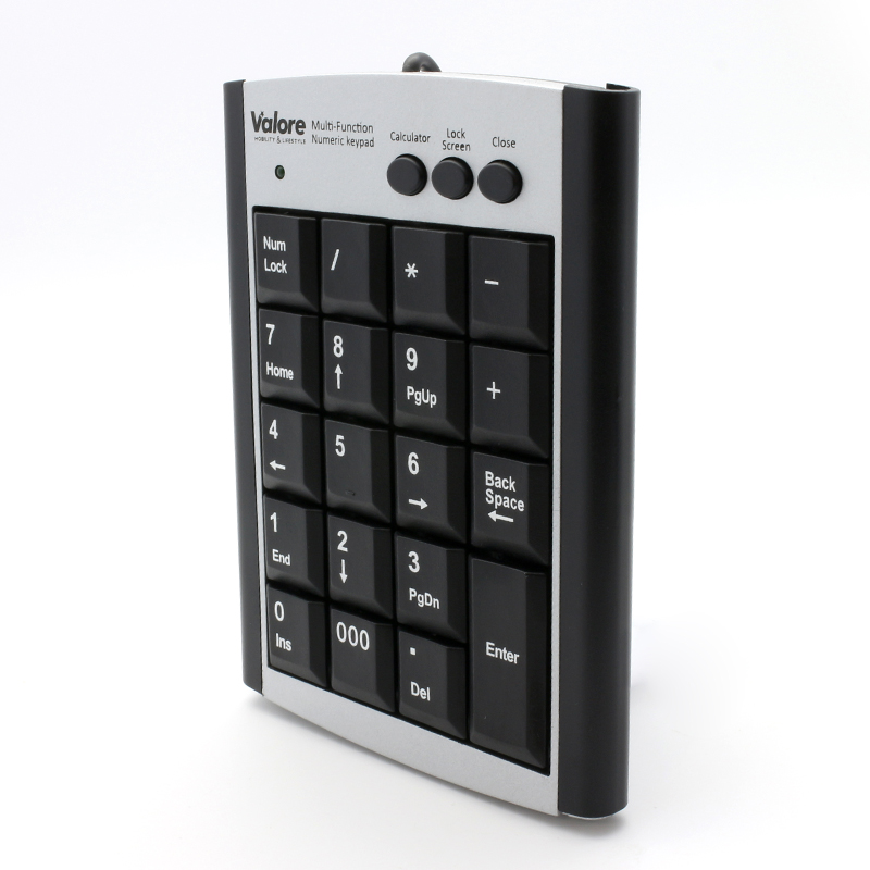 800x800 vConnect Valore Numeric keypad AC777_Front angled