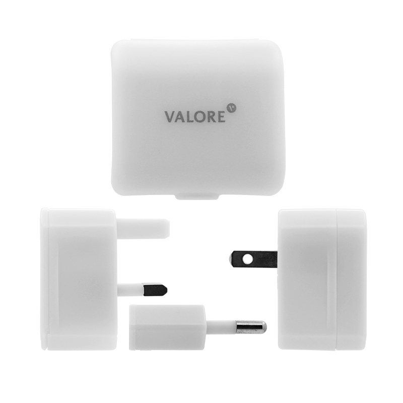 800x800 vConnect Valore Travel Adapter AC311_White