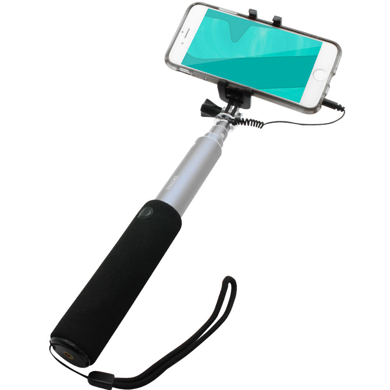 AC22-Selfie-Stick-phone-clamp-(grey)