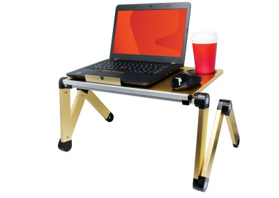 Valore Foldable Multi-Angle Laptop Desk with Built-in Cooling Pad (AC913)