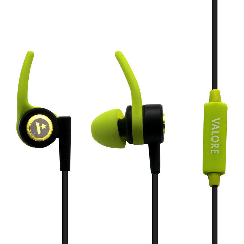 EP0006-Workout-Earphone-with-Mic-Green