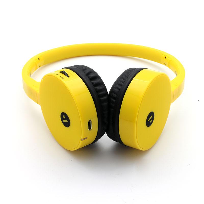 FB100-Wireless-Headset-Yellow-Front-bottom