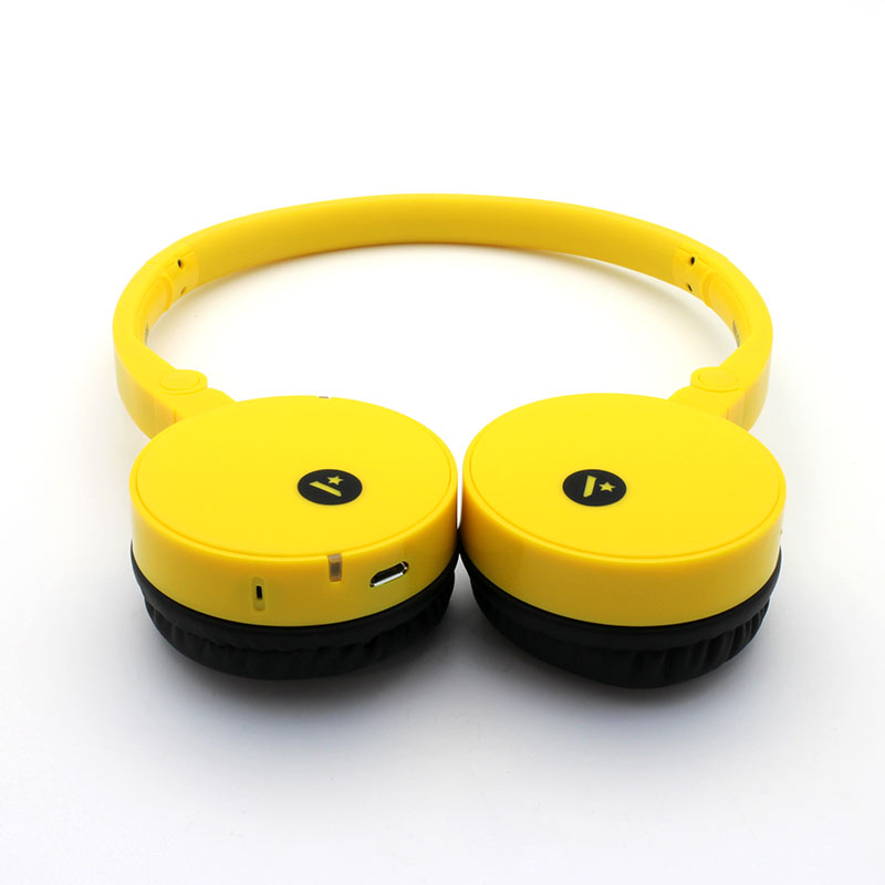 FB100-Wireless-Headset-Yellow-Front