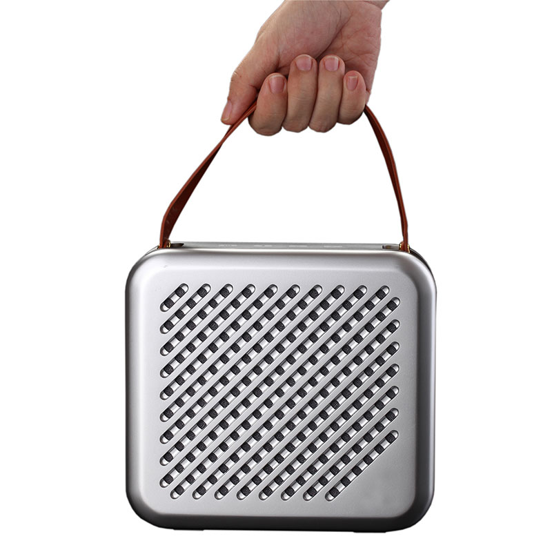 HR701-Premium-Speaker-Silver-hand-carry