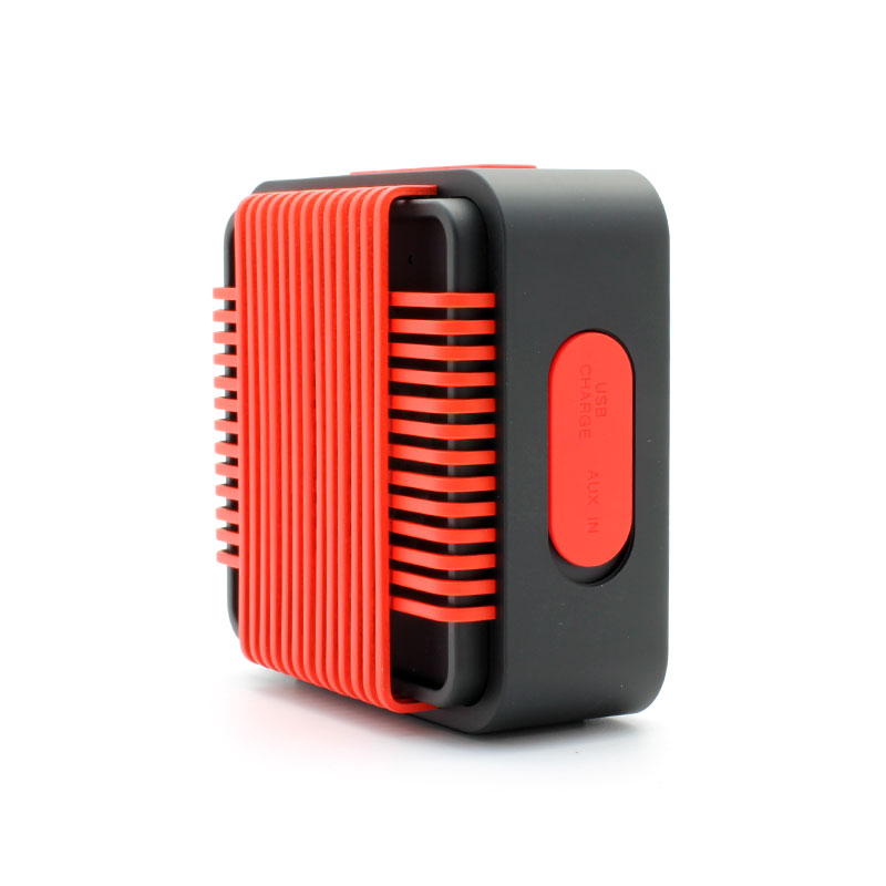 HR910-Water-Resistant-Wireles-Speaker-red-Ports-Cover