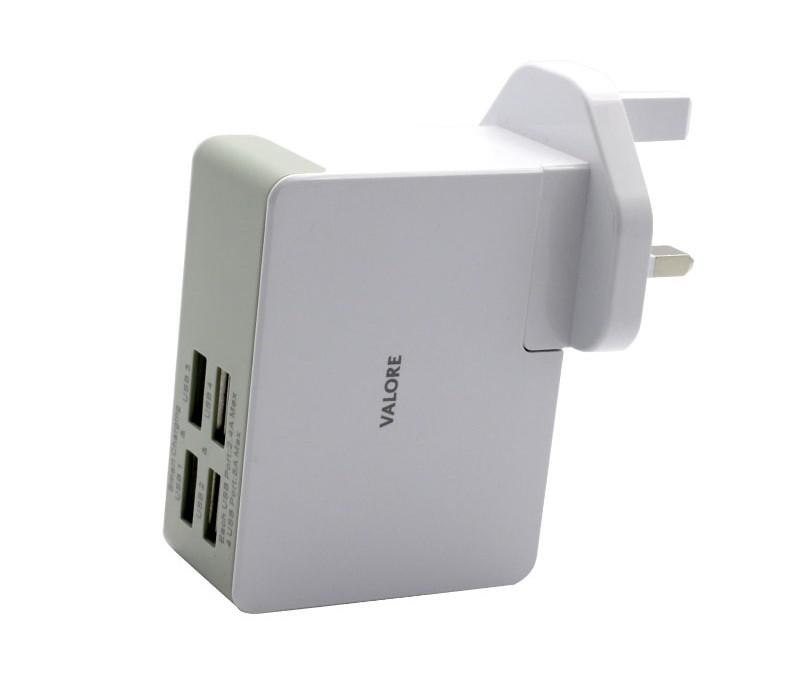 Valore 4 Port USB Travel Adaptor (JK050500-S23EUU)