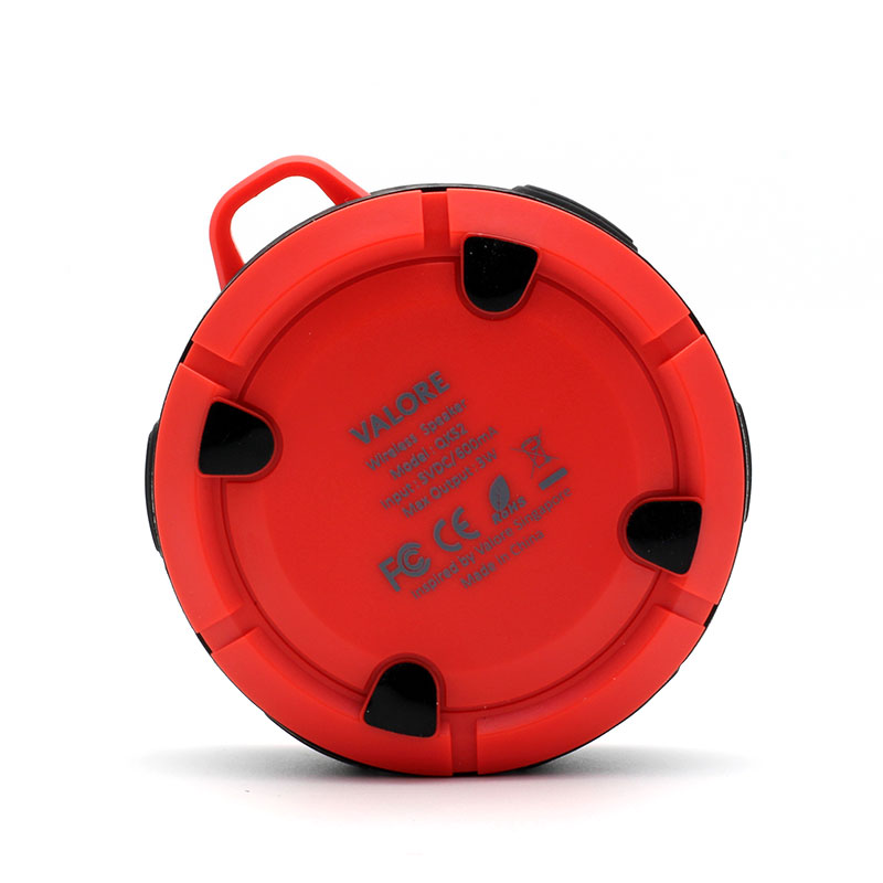 QKS2-Outdoor-Wireless-Speaker-Red-Back