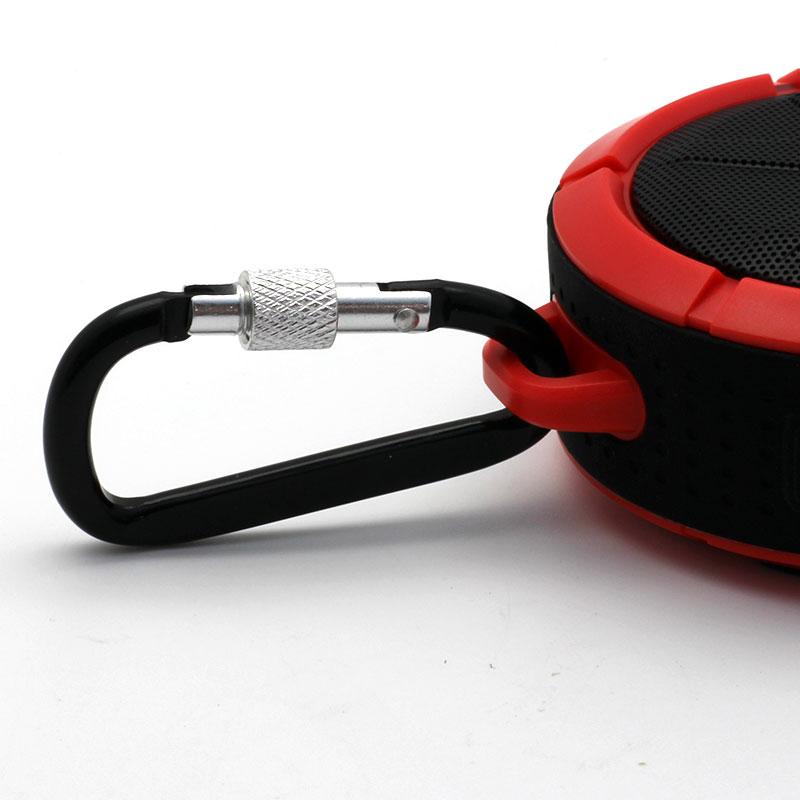 QKS2-Outdoor-Wireless-Speaker-Red-Carabiner
