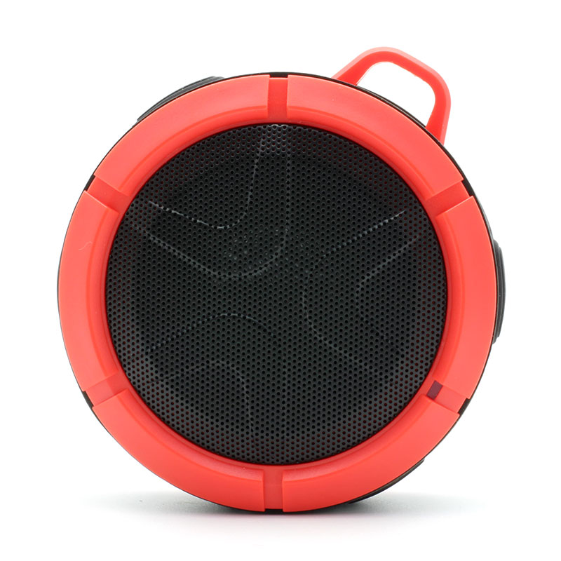 QKS2-Outdoor-Wireless-Speaker-Red-Front
