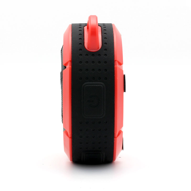 QKS2-Outdoor-Wireless-Speaker-Red-Power-Buttons