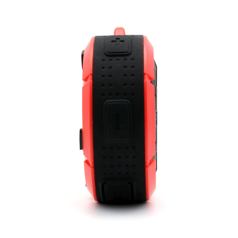 QKS2-Outdoor-Wireless-Speaker-Red-Volume-Adjust-Buttons