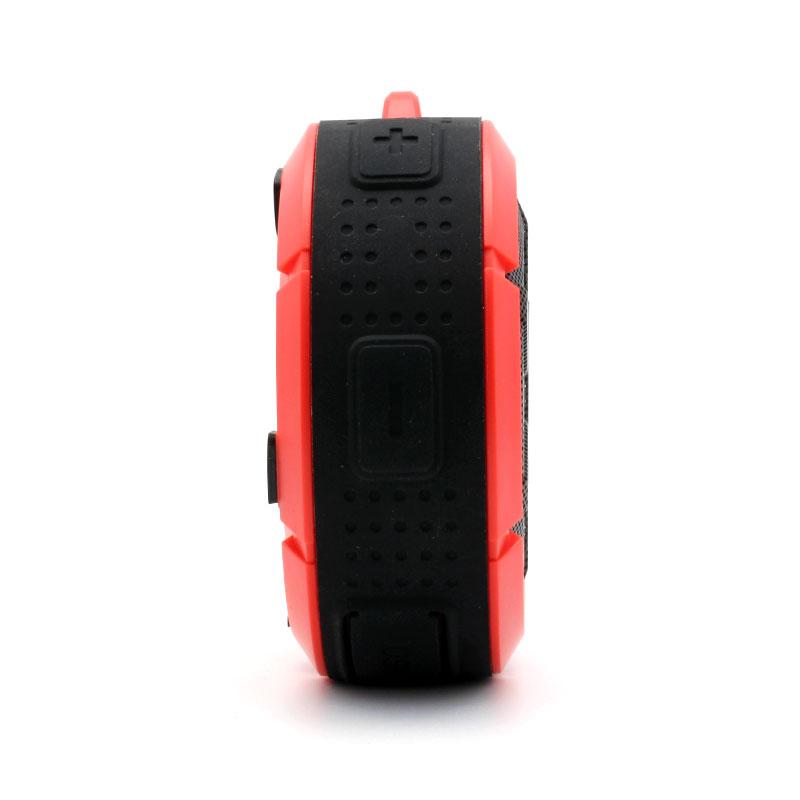 QKS2-Outdoor-Wireless-Speaker-Red-Volume-Adjust-Buttons