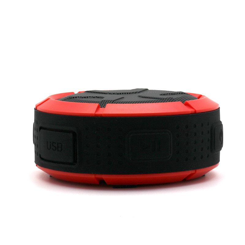 QKS2-Outdoor-Wireless-Speaker-Red-side-view