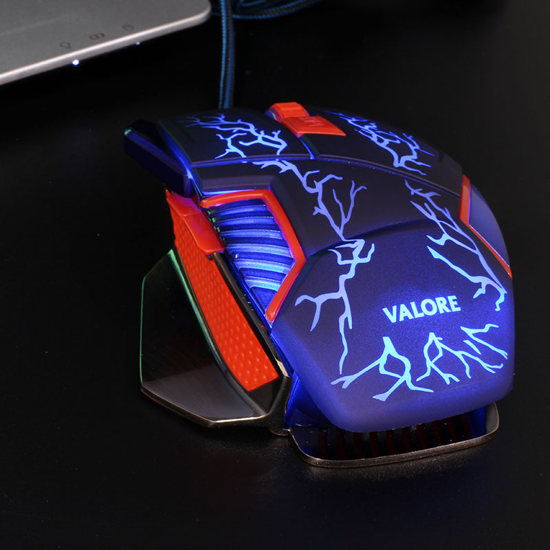 V-AC8207-Metallic-Gaming-Mouse-Blue-LED
