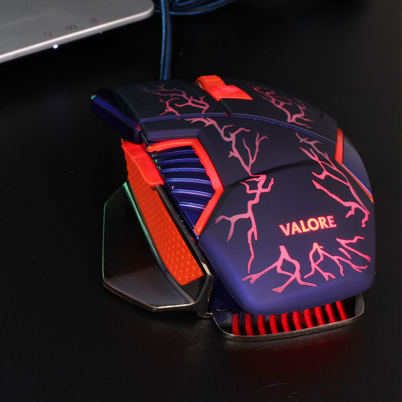 V-AC8207-Metallic-Gaming-Mouse-Red-LED