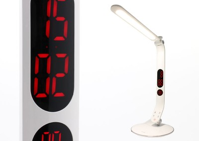 Valore Touch LED Table Lamp With Digital Clock (V-LTL9306)