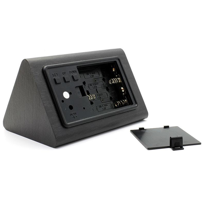 V-LWC169-Wooden-Alarm-Clock-Black-Battery-Compartment