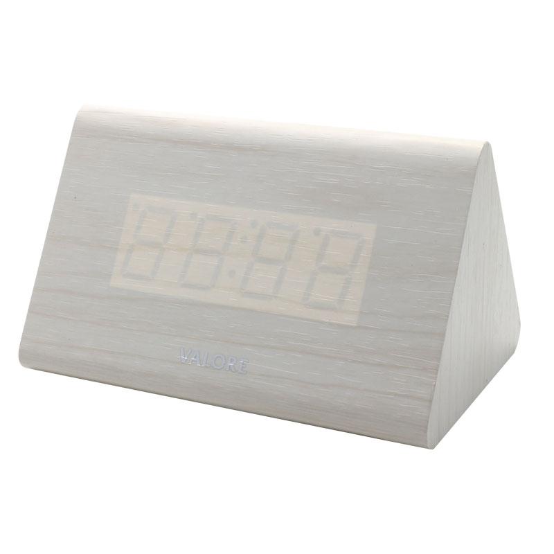 V-LWC169-Wooden-Alarm-Clock-White