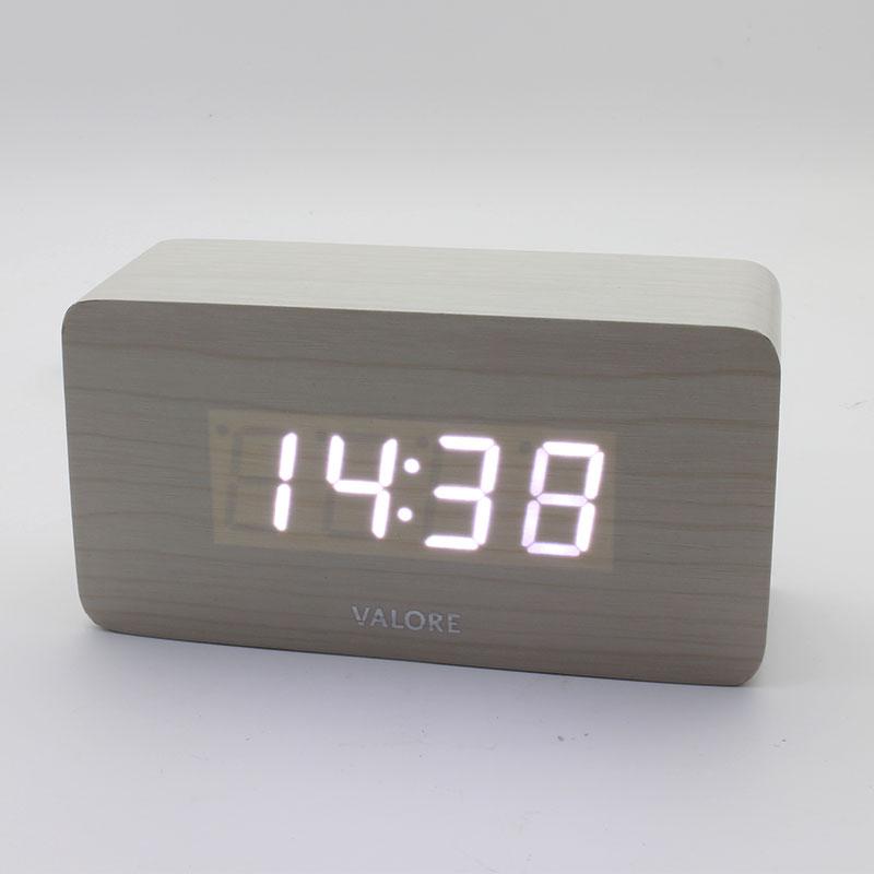 Valore Led Wooden Alarm Clock V Lwc170 Valore