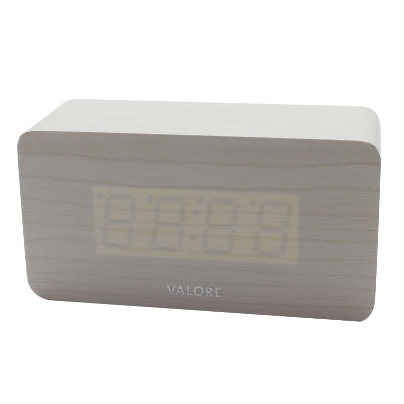 V-LWC170-LED-Wooden-Alarm-Clock-white