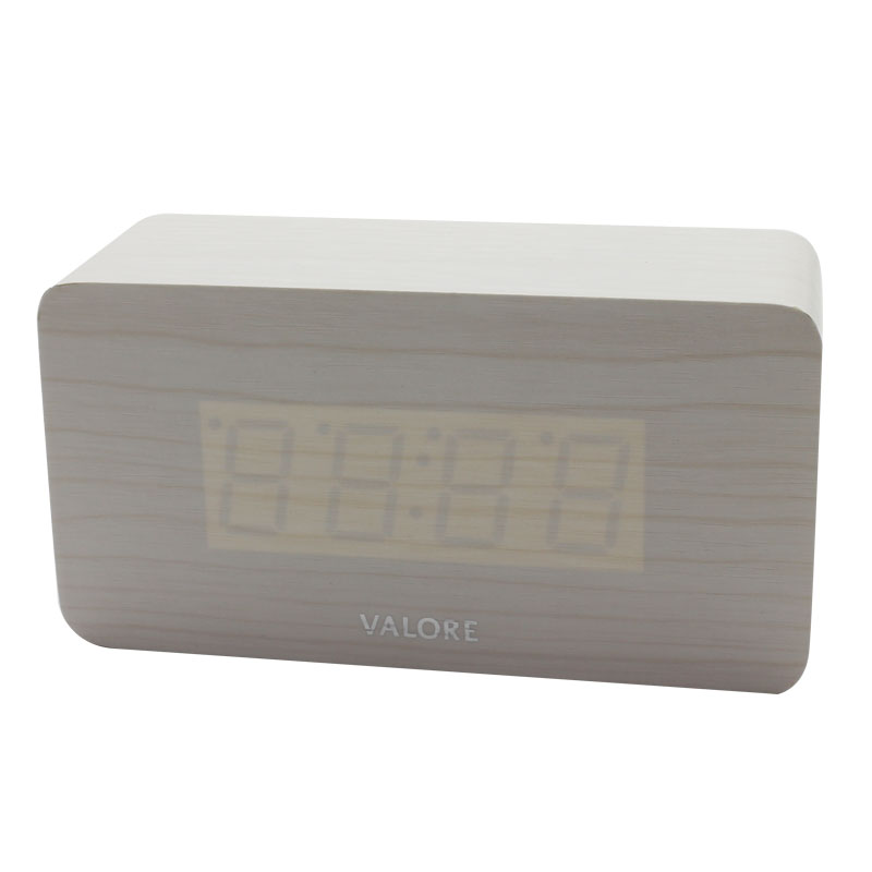 V-LWC171-LED-Wooden-Alarm-Clock-white