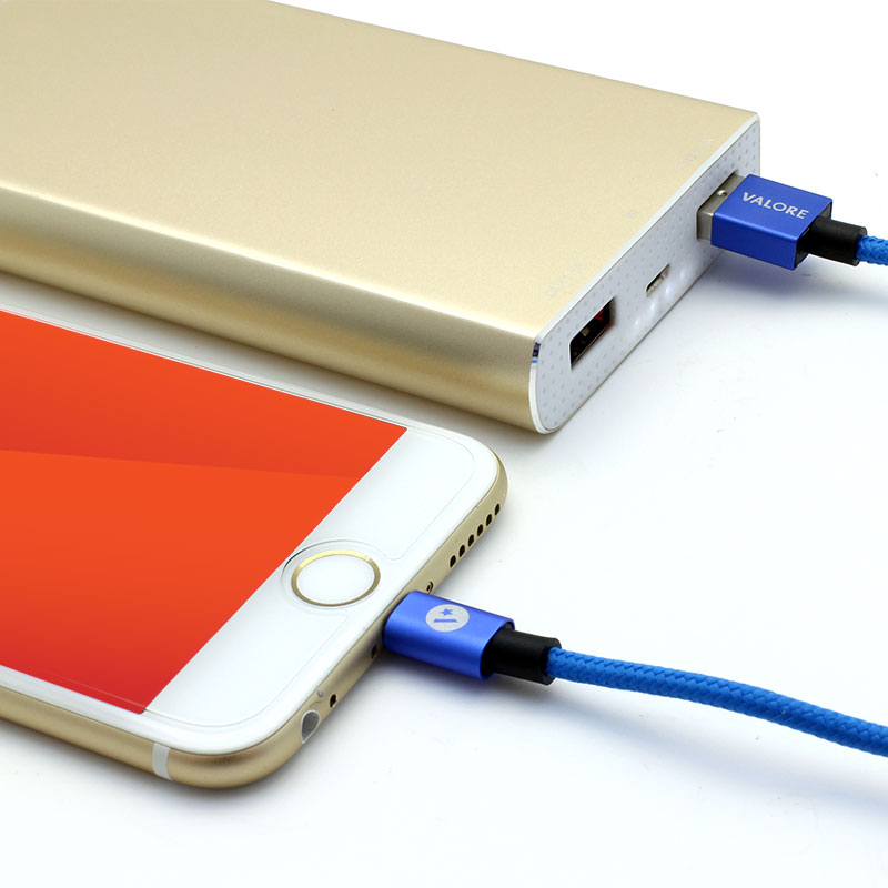 V-MA161-Charge-and-Sync-Lightning-Cable-Blue-Application