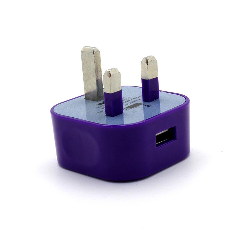 V-MA18-Single-USB-Adapter-Purple-USB-Port