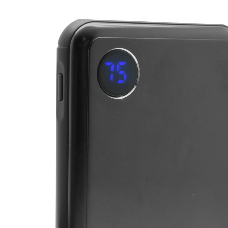 Valore-10000mAh-PD-Aluminium-Power-Bank-(PD02)-Black-indicator