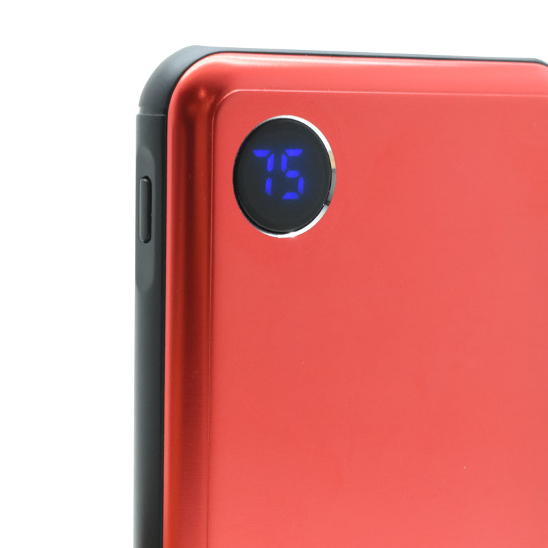 Valore-10000mAh-PD-Aluminium-Power-Bank-(PD02)-Red-indicator