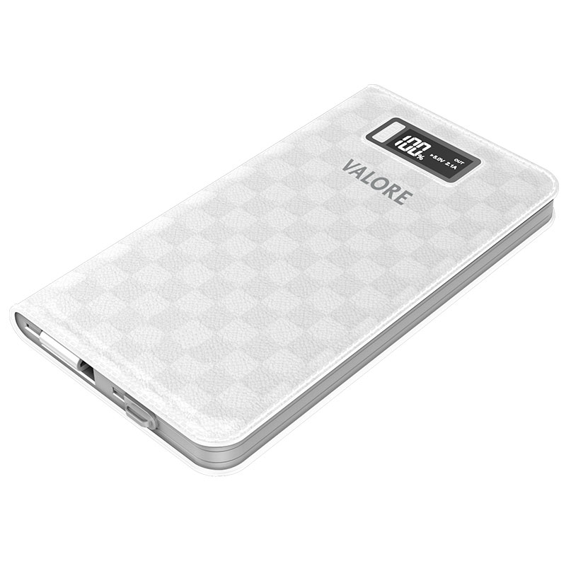 Valore-10000mAh-Power-Bank-White(PB08)