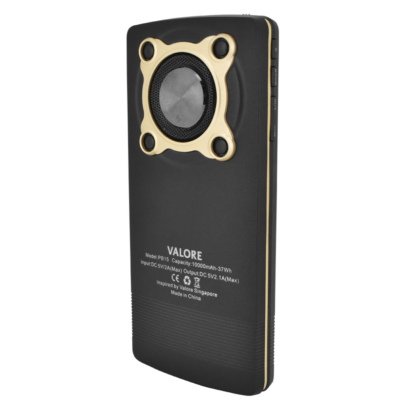 Valore-10000mAh-Power-Bank-With-3W-Wireless-Speaker-(PB15)-Back-Black