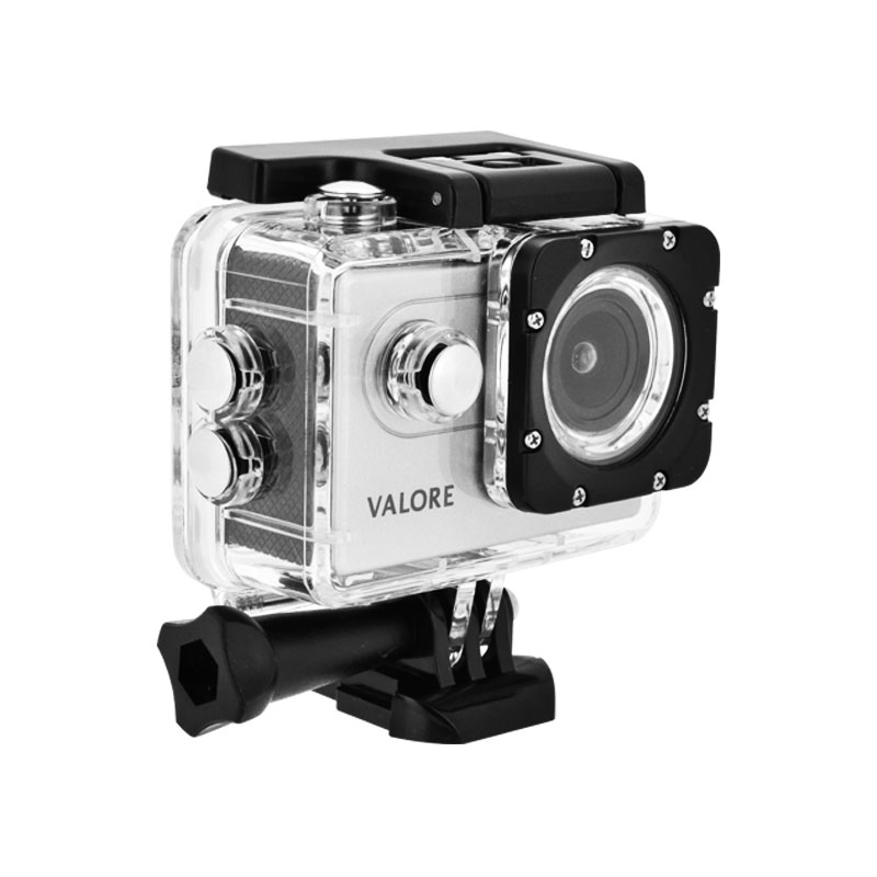 Valore-1080P-Full-HD-Action-Camera-(VMS54)-with-case-side-Silver