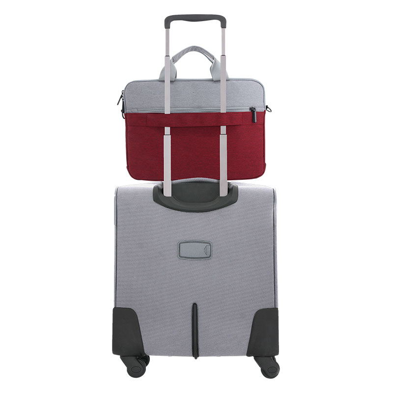 Valore-14-Inch-Laptop-Carry-Case-(MA45)-Red-Luggage-Strap