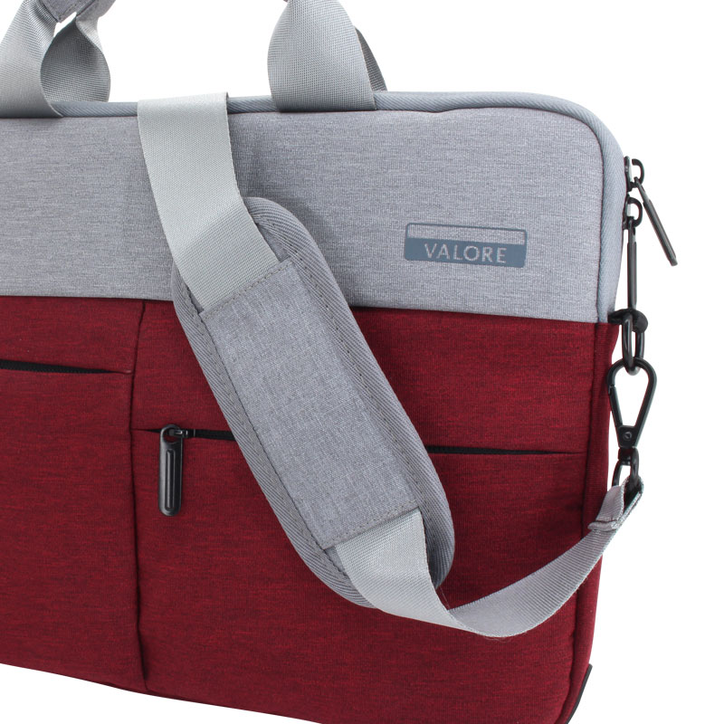 Valore-14-Inch-Laptop-Carry-Case-(MA45)-Red-strap