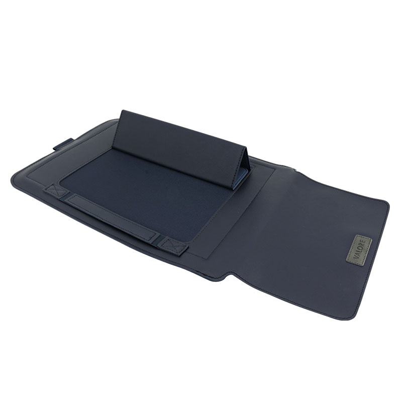 Valore-14-Inch-Laptop-Sleeve-With-Stand-(MA54)-Brown-Stand-with-mouse-pad