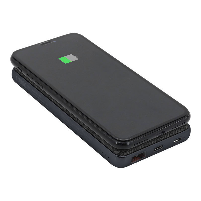 Valore-18W-PD-10000mAh-Power-Bank-with-Wireless-Charging-Function-(PD07)-Wireless-Charging-Black