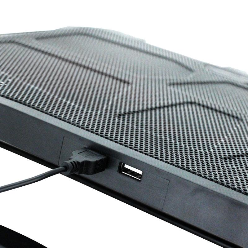 Valore-4-Fans-Cooling-Pad-(AC38)-Blue-USB-port