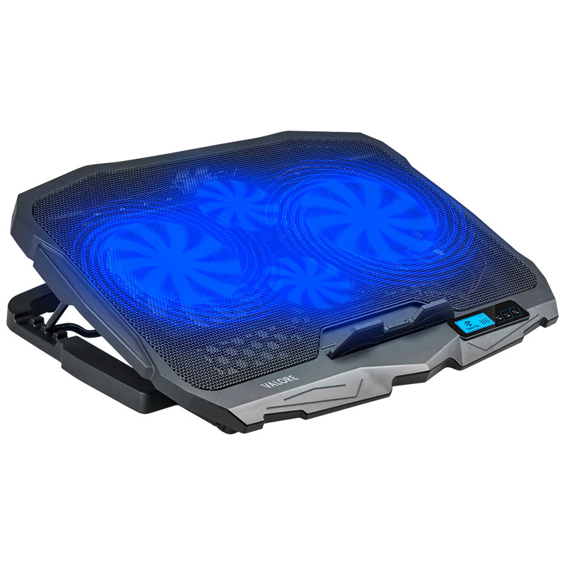 Valore-4-Fans-Cooling-Pad-(AC38)-Blue-with-light