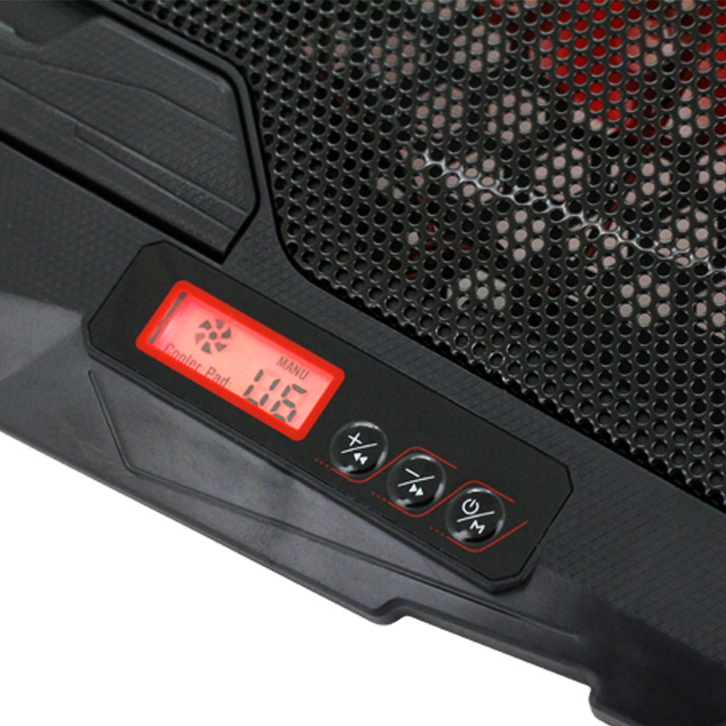Valore-4-Fans-Cooling-Pad-(AC38)-Red-Display