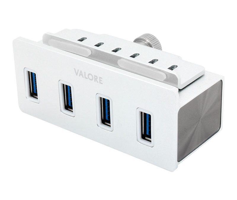 Valore 4-Port USB 3.0 Aluminium Clamp Hub (VUH-24)