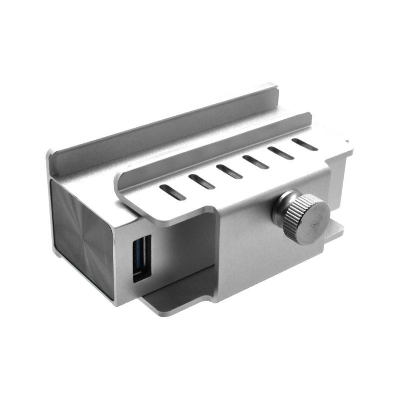 Valore-4-Port-USB-3.0-Aluminium-Clamp-Hub-(VUH-24)-Clamp-extend
