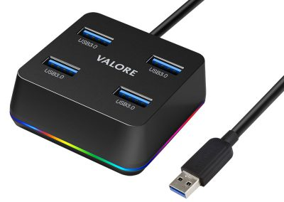 Valore 4-in-1 USB Hub With RGB Lighting (VUH-29)