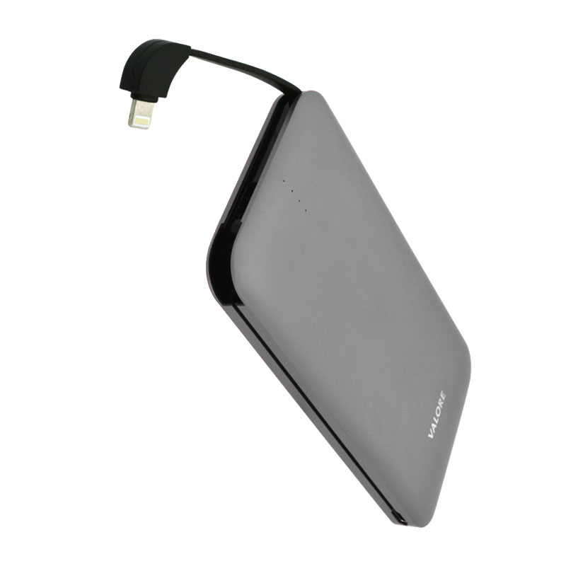 Valore-AMPHIBIAN---10000mAh-Power-Bank-(PB25)-Grey-8-pin-output