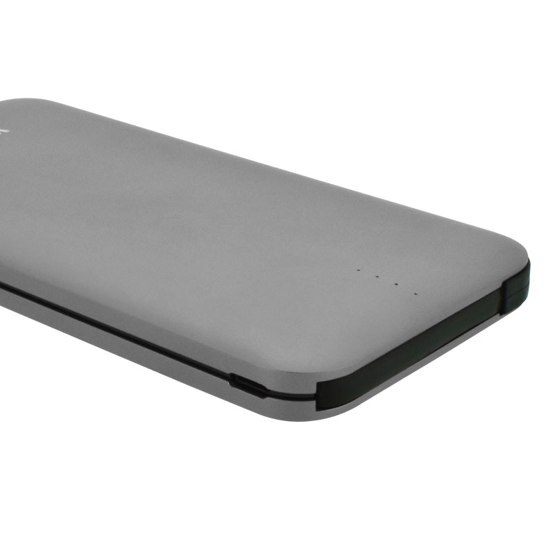 Valore-AMPHIBIAN---10000mAh-Power-Bank-(PB25)-Grey-Charging-port-and-indicator