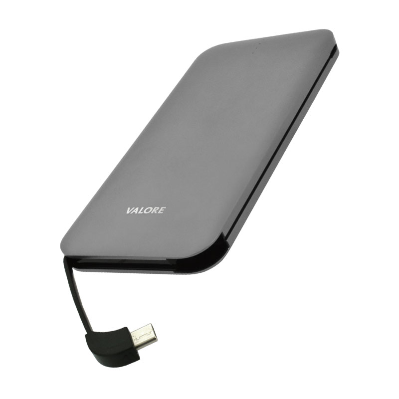 Valore-AMPHIBIAN---10000mAh-Power-Bank-(PB25)-Grey-type-c-output