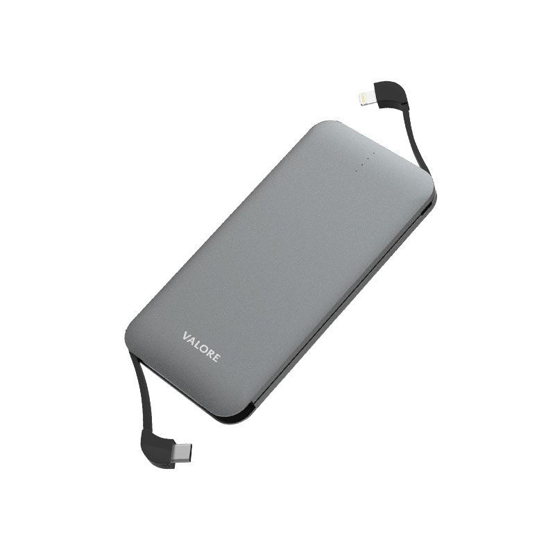 Valore-AMPHIBIAN---10000mAh-Power-Bank-(PB25)-Grey