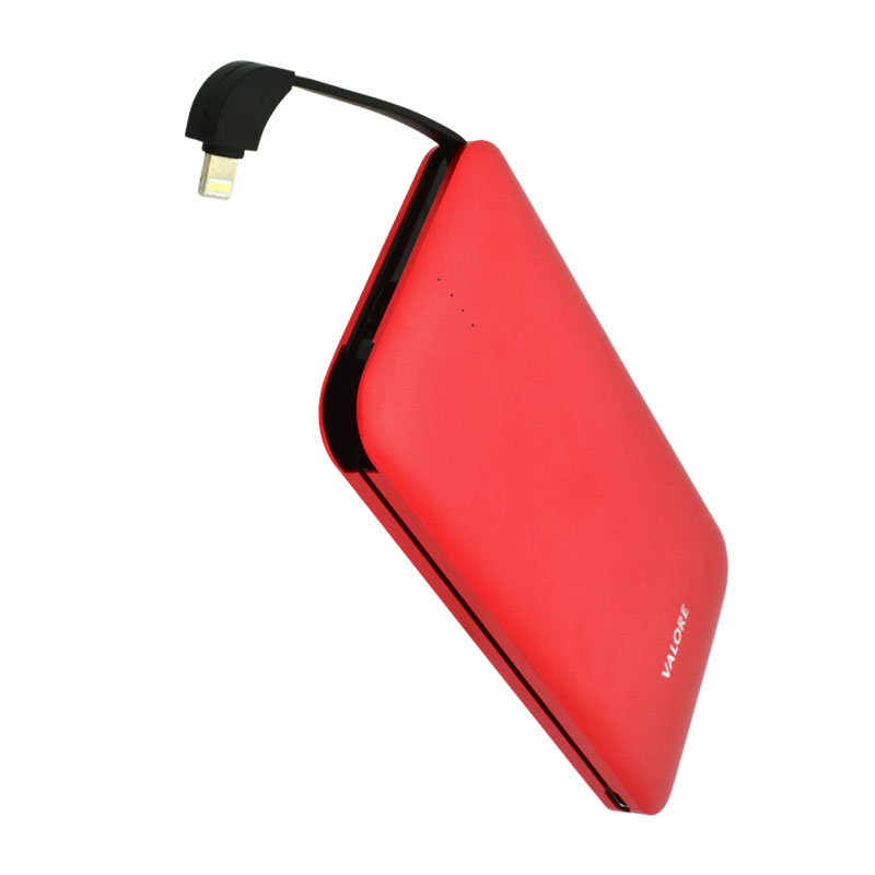 Valore-AMPHIBIAN---10000mAh-Power-Bank-(PB25)-Red-8-pin-output
