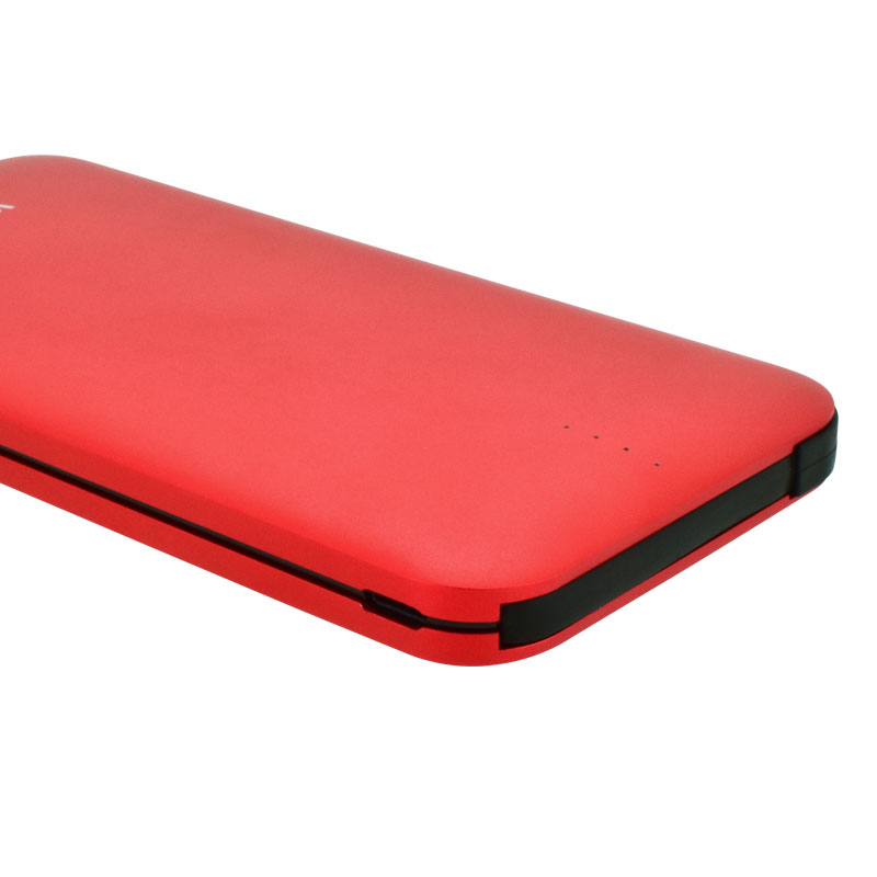 Valore-AMPHIBIAN---10000mAh-Power-Bank-(PB25)-Red-Charging-port-and-indicator
